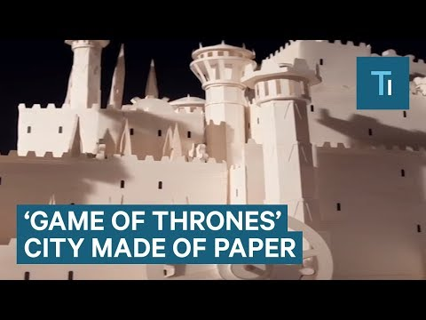 This Model Of King's Landing From Game Of Thrones Was Made With 7,600 Paper Cutouts