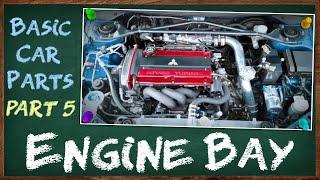 Mga Pangunahing Bahagi ng Engine Bay o Engine Compartment