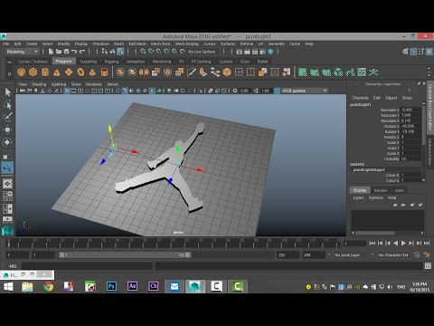 Maya 2016 tutorial : How to create 3D geometry off 2D image