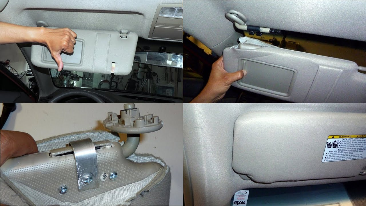 DIY Camry Sun Visor Repair - YouTube f53543dc83f
