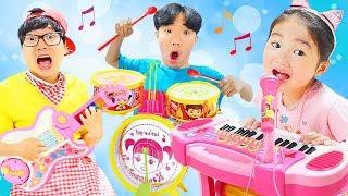 보람이 연주회를 시작 합니다~! 콩순이 피아노 드럼 악기연주 장난감 놀이 Musical Instrument Toys for Kids