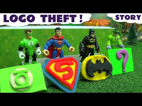 Batman Superman Superhero Logo Theft Play Doh Thomas & Friends Story The Riddler Green Lantern
