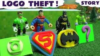 Batman Superman Superhero Logo Theft Play Doh Thomas and Friends Story The Riddler Green Lantern