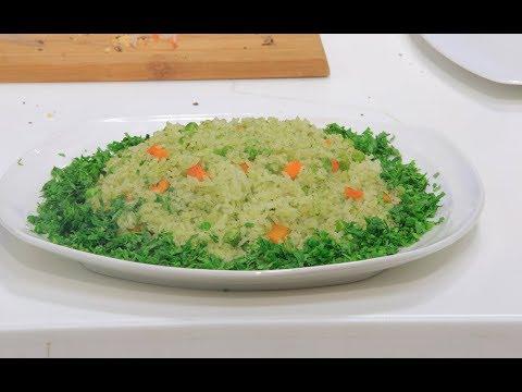 ارز اخضر بالبسلة و الجزر : نجلاء الشرشابي
