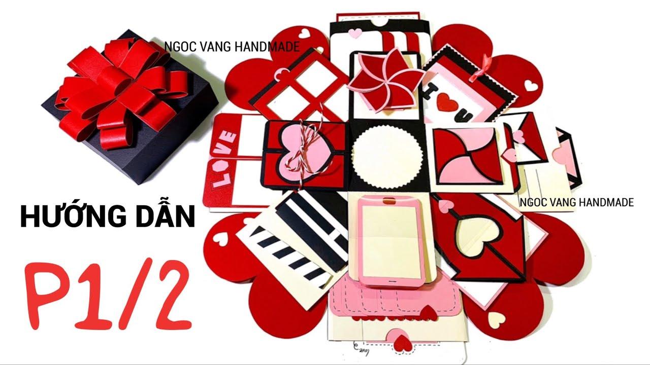 hướng dẫntutorial  red love box 121212 cm phần 1