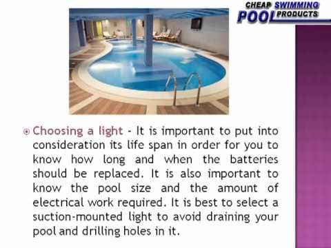 How To Install Swimming Pool Lights Youtube