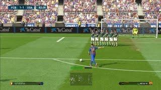 Pes 2017 | barcelona vs osasuna messi free kick goal & full match gameplay pc