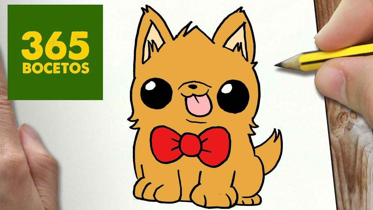 Como Dibujar Perrito Kawaii Paso A Paso Dibujos Kawaii Faciles