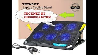 TeckNet N7 Laptop Cooling Pad Review and Unboxing India 2018
