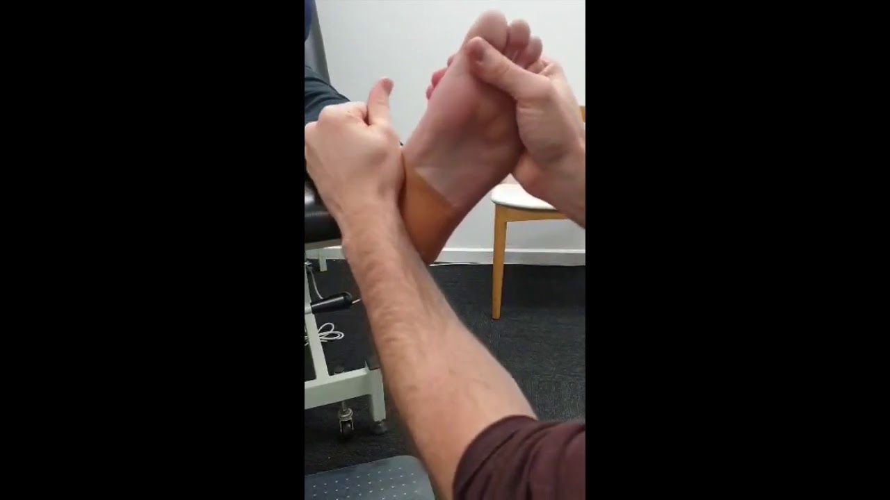 Simple taping for heel pain
