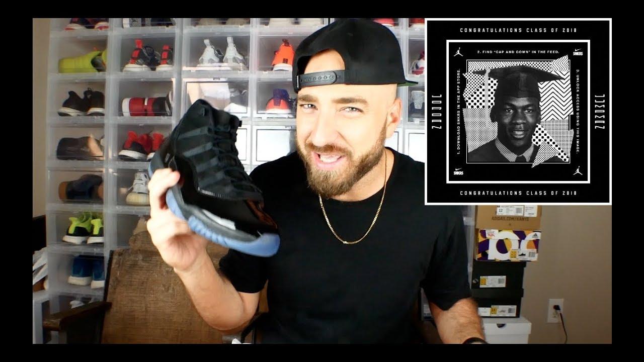 ccbcb6dc8b4c Jordan 11 Cap and Gown Review   On Feet! - YouTube