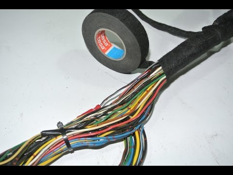how to diy wiring harness restoration youtube rh youtube com Wire Tubing Sleeve Electrical Nonmetallic Tubing