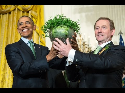 The President, Vice President and Irish Prime Minister Deliv