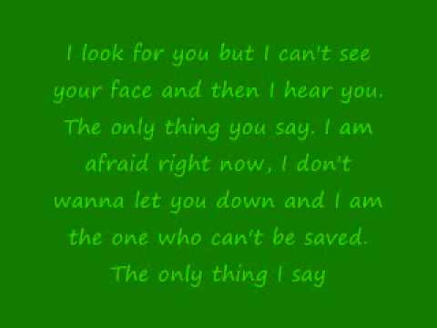Afraid by Yellowcard with lyrics