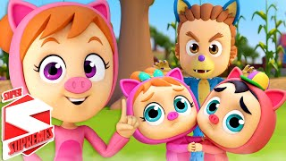 Three Little Pigs | Nursery Rhymes and Baby Song | Pigs Song | Kids Songs with Super Supremes