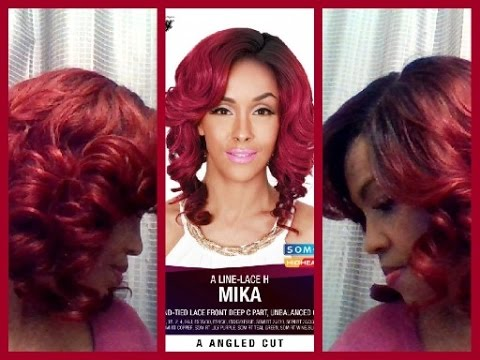Zury Sis Mika A Line Lace H Wig Sombre Rt Wine Burgundy Elevatestyles You