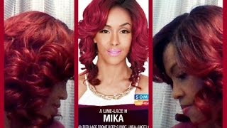 Zury SIS MIKA A-Line Lace  H Wig - Sombre RT Wine/Burgundy - ElevateStyles.com