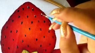 PINTURA EN TELA  fresas con Cony dos
