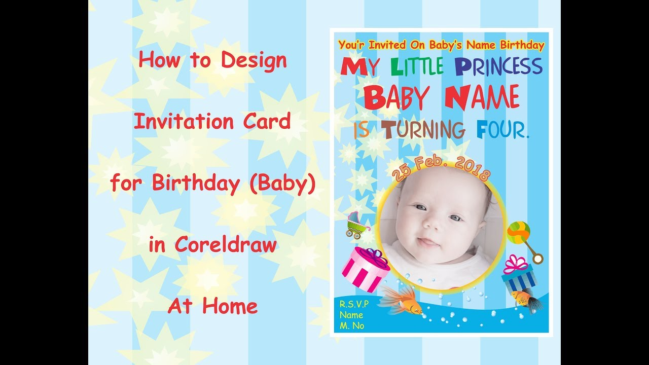 Birthday invitation card design in coreldraw at home youtube birthday invitation card design in coreldraw at home filmwisefo