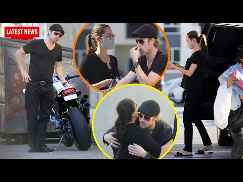 Brad Pitt hugged Angelina Jolie intimately when they were spotted together in LA over the weekend.