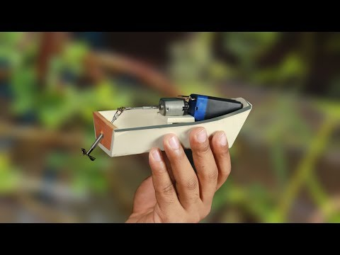 How to make a Electric Boat at home   New Idea!