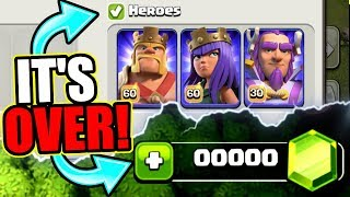 OUR LAST EVER GEM SPREE..............UPGRADE COMPLETE! - Clash Of Clans