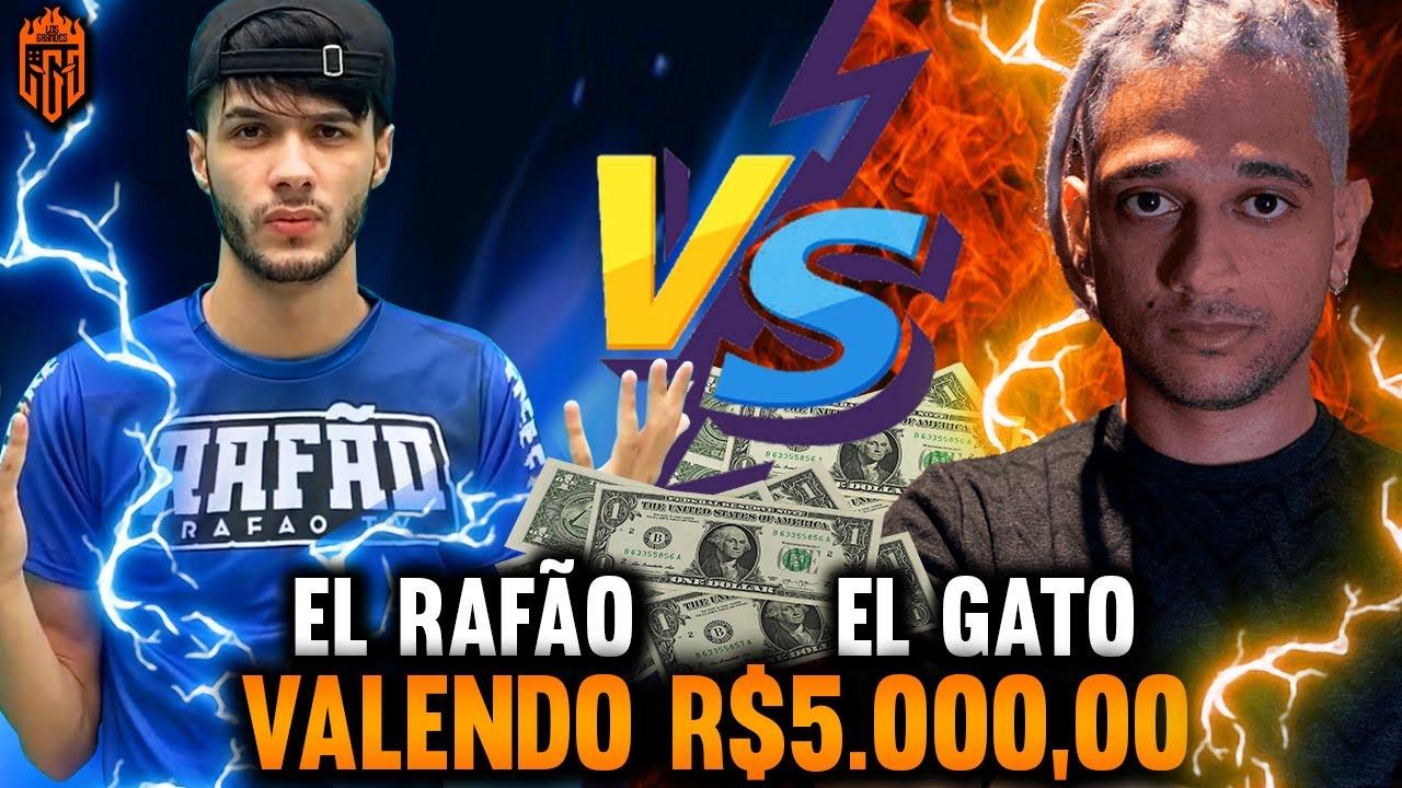 HORA DA REVANCHE!! 🔥EL RAFÃO vs EL GATO🔥4X4 VALENDO 5.000 REAIS🔥FREE FIRE AO VIVO🔥