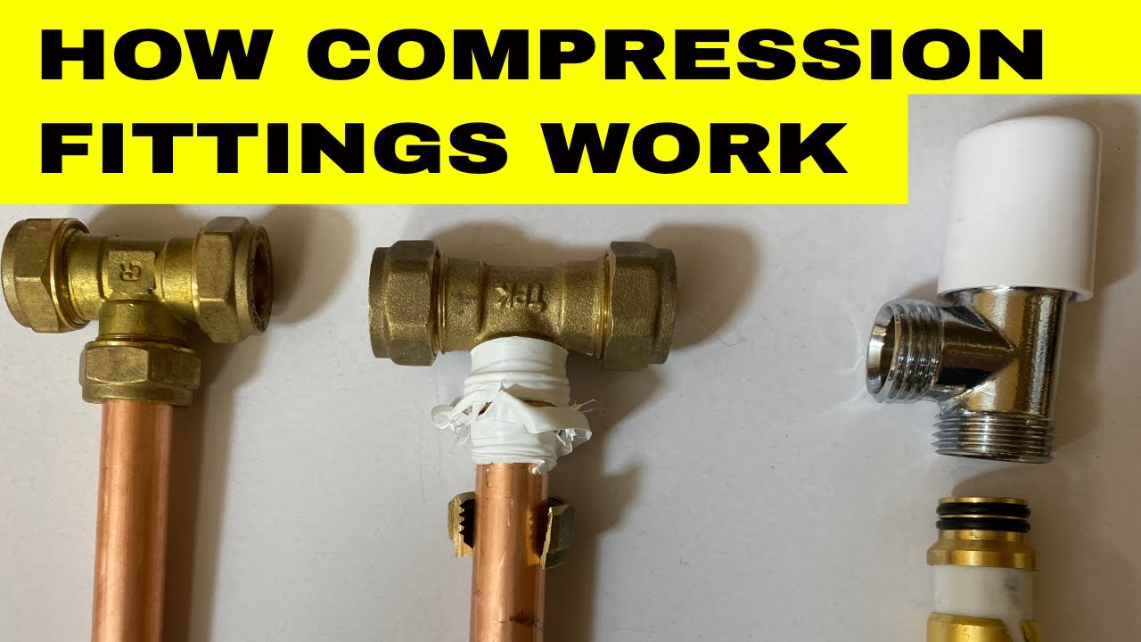 HOW COMPRESSION FITTINGS WORK - Joining Copper Pipes and MLCP Blansol Plumbing