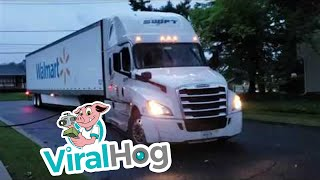 Truck Takes Out Community's Cable || ViralHog