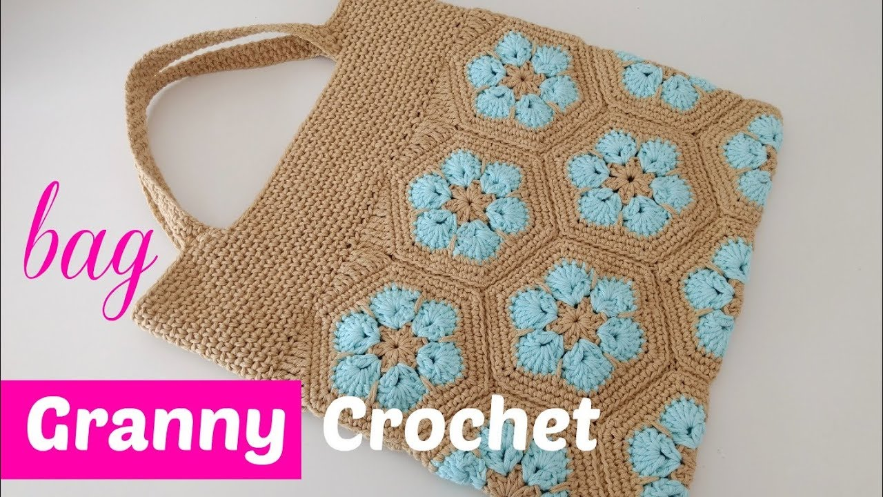 Bolso crochet paso a paso con granny - YouTube