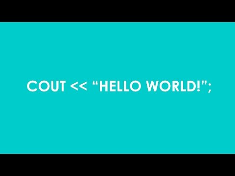"C++ in 5 EP1: Coding a ""Hello World"" Program"
