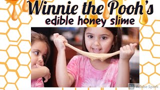 How to make edible slime  Poohs Honey Slime