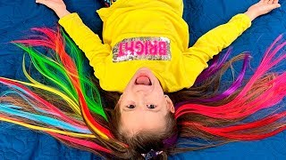 COLOR HAIRSTYLE Lika and COLOR Hair Funny video for girls by JoyJoy Lika