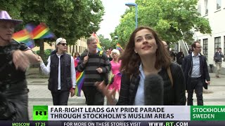 Swedish Far Right LGBT march in Muslim neighborhood