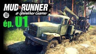 [FR] Spintires MUDRUNNER gameplay - ép 1 - Présentation et 2 défis de la simulation de tous-terrains