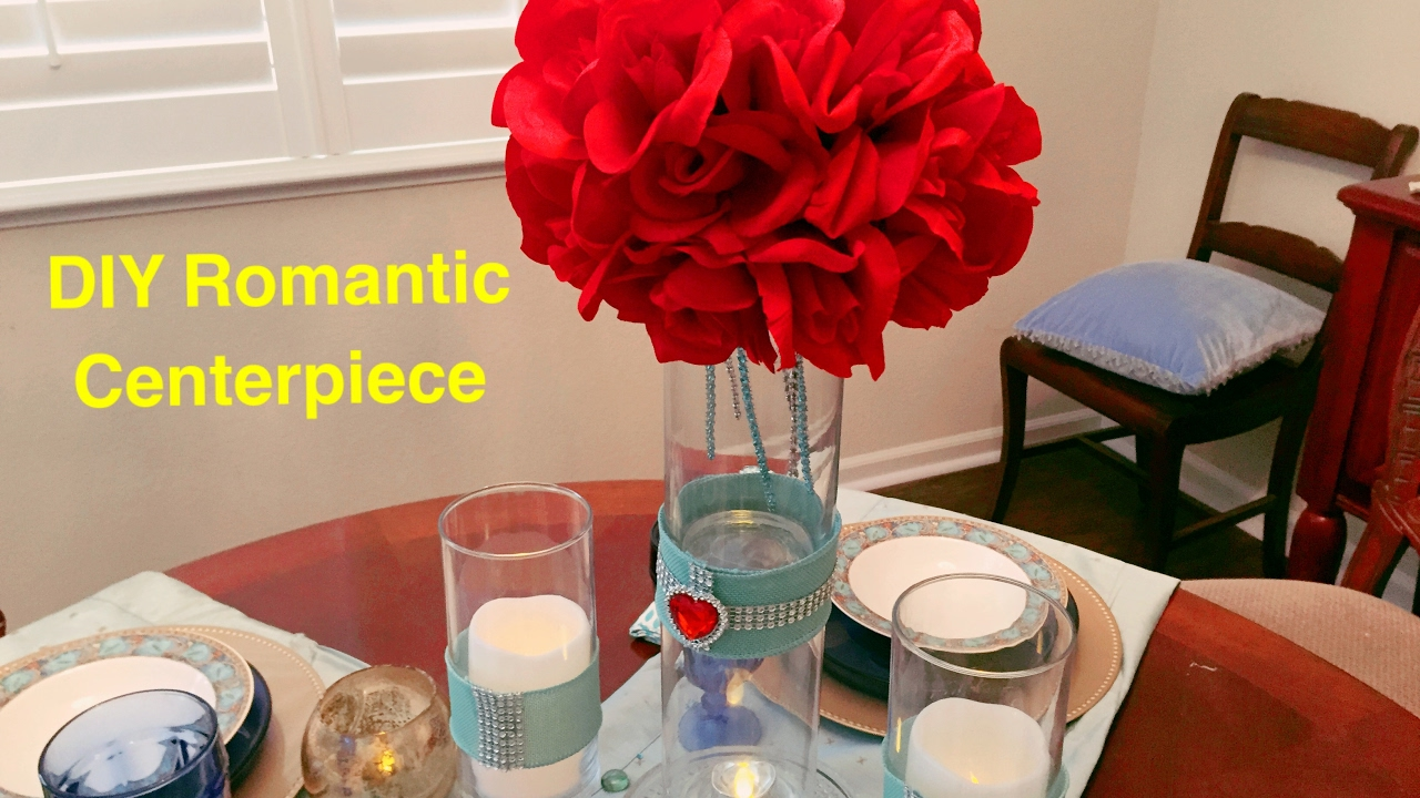 Diy Dollar Tree Red Roses Bling Centerpiece Wedding