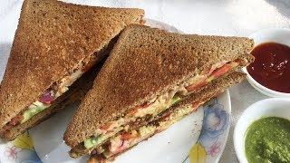 Veg Cheese Sandwich | Cheese Veg Sandwich | Veg Cheese Grill Sandwich