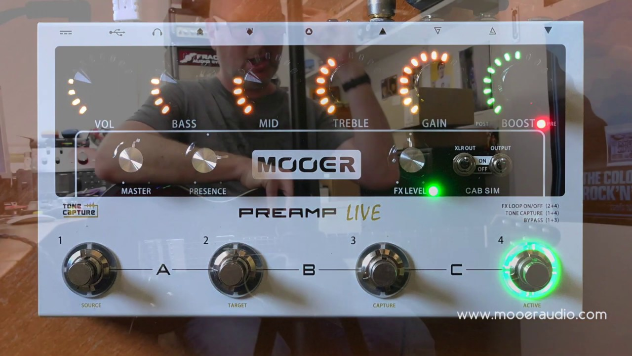 MOOER: Preamp Live
