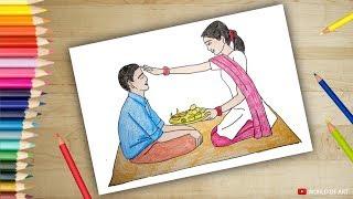 colouring bhaubeej characters | rakshabandhan colouring for kids | bhai dooj