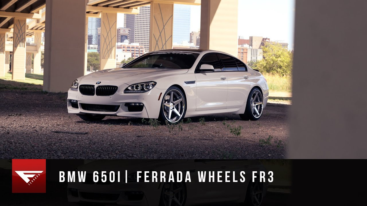 2015 Bmw 650i Ferrada Wheels Fr3 Machine Silver Youtube