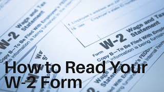 How To Read Your W 2