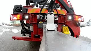 Riedler-Tandem-Rungenanhängerzug mit verstellbarer Zugdeichsel