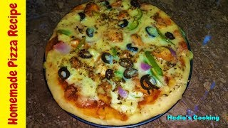 Pizza Recipe | Homemade Pizza Recipe Without Oven | Hadia