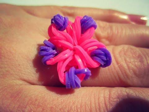Как сделать кольцо из резинок на пальцах