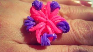 как сделать цветок из маленьких резиночек