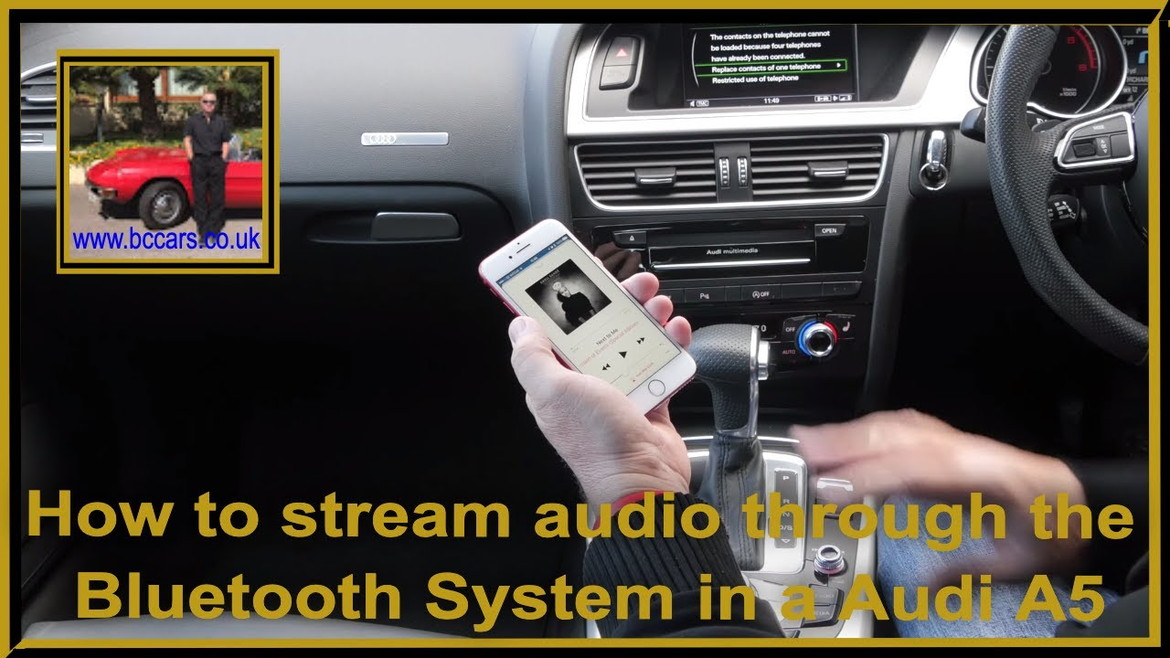 How To Stream Audio Through The Bluetooth System In A Audi A Sportback Tdi S Line 5dr Full Vide