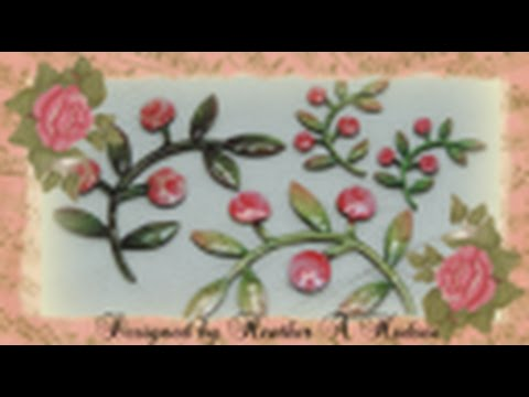 DIY Painted shabby chic vintage Victorian chipboard tutorial Folk Art