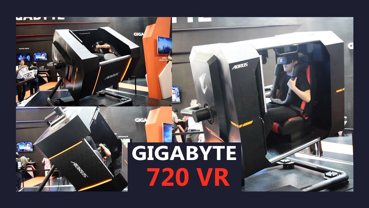 The Crazy Gigabyte 720 VR motion simulator