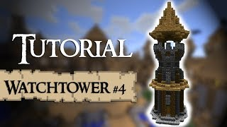 Minecraft Tutorial; How to build a medieval watchtower (Version 4)