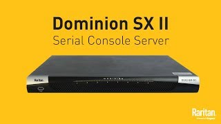 Dominion SX II Serial Console Server